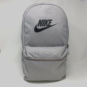 Nike Heritage Laptop Backpack School Gym Gray